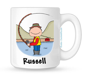 Fishing Mug Male Personalized