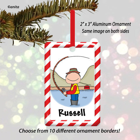 Fishing Ornament Male - Personalized
