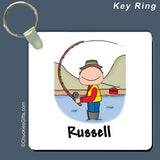 Fishing Key Ring Male Personalized