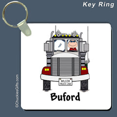 Truck Driver Key Ring Male Personalized
