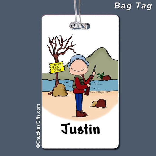 Hunter Bag Tag Male Personalized