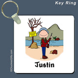 Hunter Key Ring Male Personalized