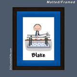 Gymnast Mat/Frame Male Personalized
