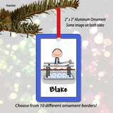 Gymnast Ornament Male - Personalized