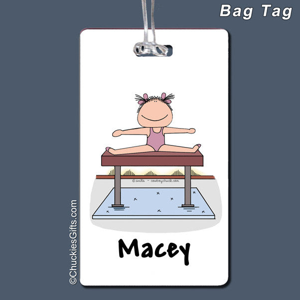 Gymnast Bag Tag Female Personalized