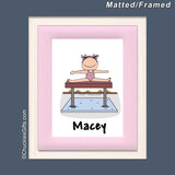 Gymnast Mat/Frame Female Personalized