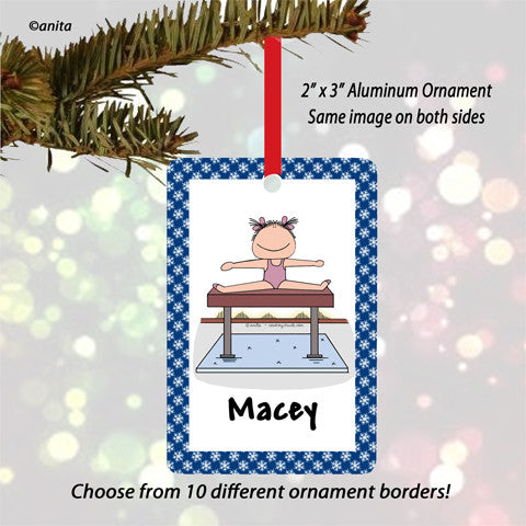 Gymnast Ornament Female - Personalized