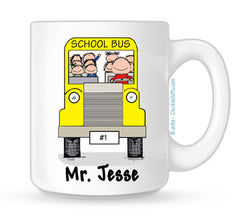School Bus Driver Mug Male | Personalized Coffee Mug
