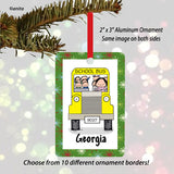 School Bus Driver Ornament Female - Personalized