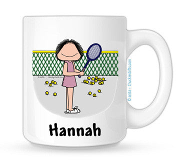 Tennis Mug Female Personalized