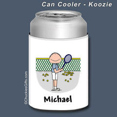 Tennis Can Cooler Male Personalized
