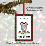 Friends Female/Female Ornament Personalized
