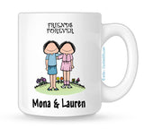 Friends Mug 2 Females - Personalized