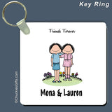Friends Key Ring Female/Female Personalized