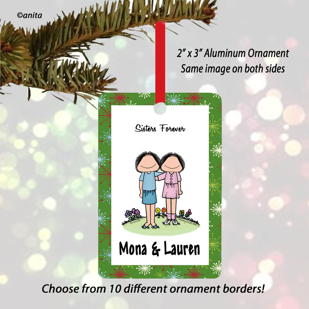 Sisters Female/Female Ornament Personalized