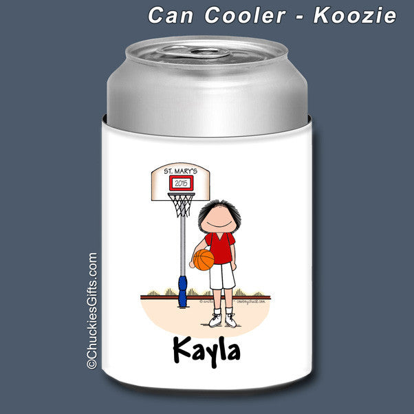 Basketball Can Cooler Female Personalized