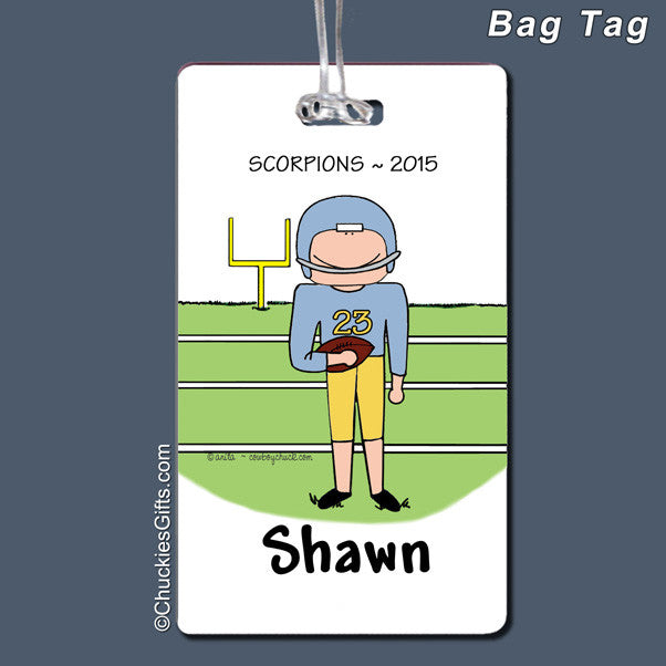 Football Bag Tag Male Personalized
