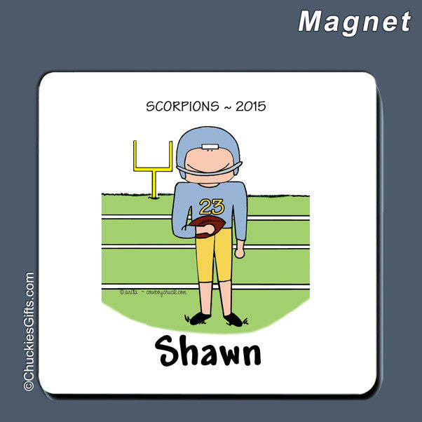 Football Magnet Male Personalized