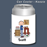 Carpenter Can Cooler Male Personalized
