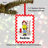 Firefighter Ornament Female - Personalized