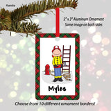 Firefighter Ornament Male - Personalized