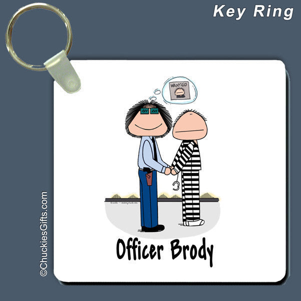 Police Officer Key Ring Female Personalized