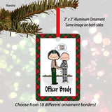 Police Officer Ornament Female - Personalized