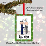 Police Officer Ornament Male - Personalized