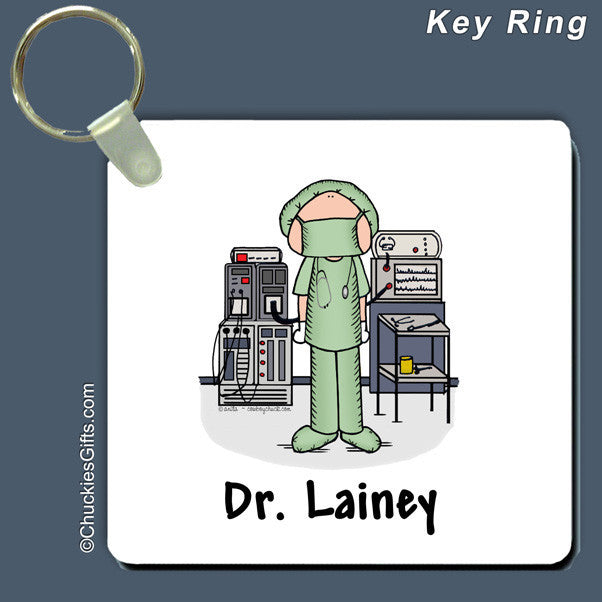 Operating Room Key Ring Personalized