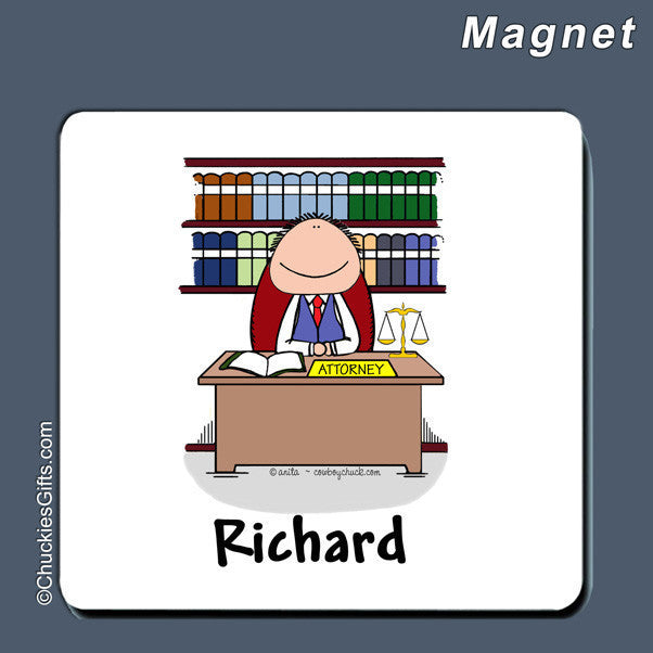 Attorney Magnet Male Personalized