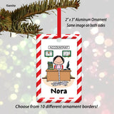 Accountant Ornament Female - Personalized