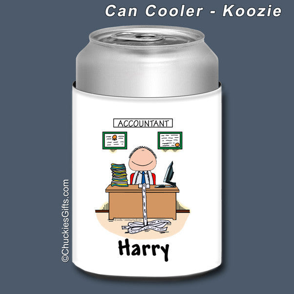 Accountant Can Cooler Male Personalized