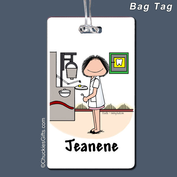 Dentist Bag Tag Female Personalized