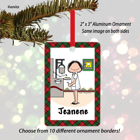 Dental Hygienist Ornament Female - Personalized