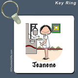 Dentist Key Ring Female Personalized
