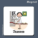 Dentist Magnet Female Personalized
