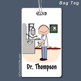 Dentist Bag Tag Male Personalized