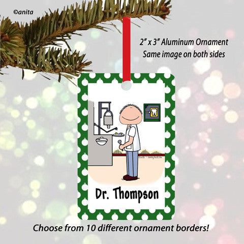 Dentist Ornament Male - Personalized