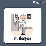 Dentist Magnet Male Personalized