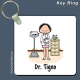 Doctor Key Ring Female Personalized