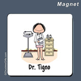 Doctor Magnet Female Personalized