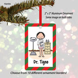 Doctor Ornament Female - Personalized