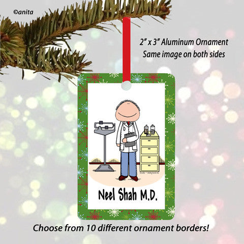 Doctor Ornament Male - Personalized