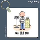 Doctor Key Ring Male Personalized