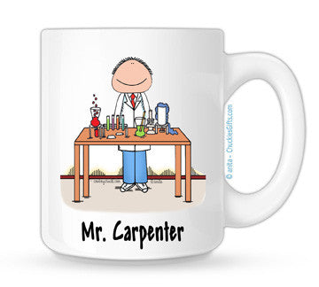 Scientist Mug Male - Personalized