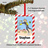 Scuba Diving Ornament Male - Personalized