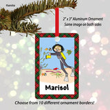 Scuba Diving Ornament Female - Personalized