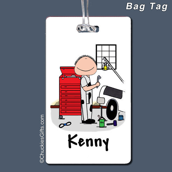 Mechanic Bag Tag Male Personalized