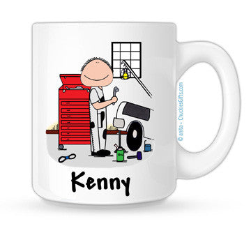 Mechanic Mug Male - Personalized