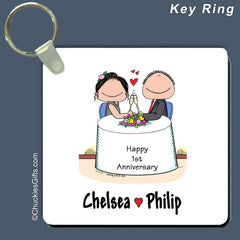 Anniversary Key Ring Personalized